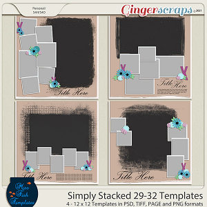 Simply Stacked 29-32 Templates by Miss Fish