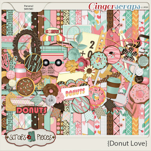 Donut Love Kit - Scraps N Pieces