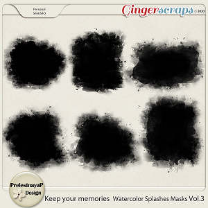 Keep your memories Watercolor Splashes Photomasks Vol.3