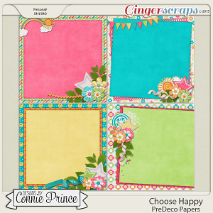 Choose Happy - PreDeco Papers