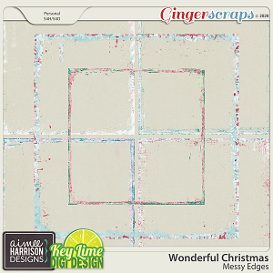 Wonderful Christmas Messy Edges by Aimee Harrison and Key Lime Digi Design