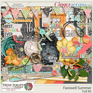 Farewell Summer Full Kit by Trixie Scraps Designs
