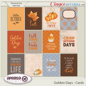 Golden Days - Cards by Aprilisa Designs
