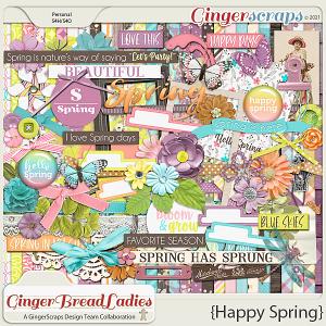 GingerBread Ladies Collab: Happy Spring
