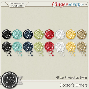 Doctors Orders Glitter Photoshop Styles