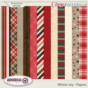 Winter Joy - Papers by Aprilisa Designs