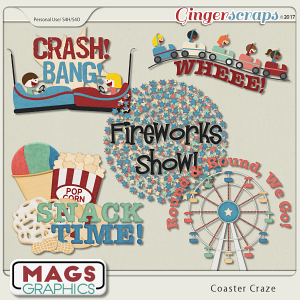 Coaster Craze WORD ART by MagsGraphics