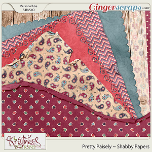 Pretty Paisley Shabby Papers