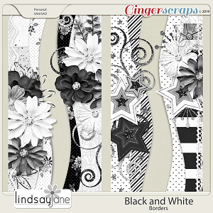 Black and White Borders by Lindsay Jane