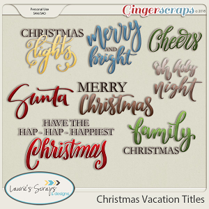 Christmas Vacation Titles