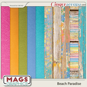Beach Paradise SPECIALTY PAPERS by MagsGraphics