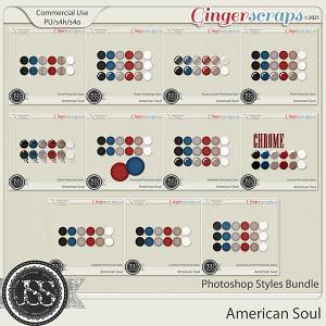 American Soul CU Photoshop Styles Bundle