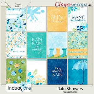 Rain Showers Journal Cards by Lindsay Jane
