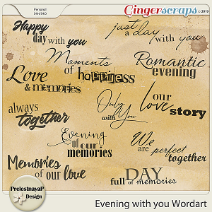 Evening with you Wordart