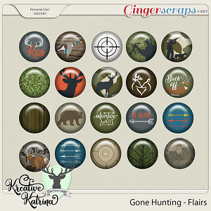 Gone Hunting Flairs by Kreative Katrina & Clever Monkey Graphics