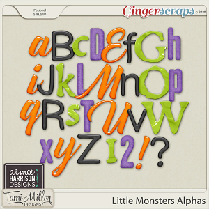 Little Monsters Alpha Sets by Aimee Harrison and Tami Miller