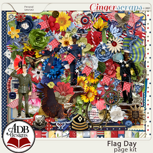 Flag Day Mega Page Kit by ADB Designs