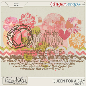 Queen for a Day Graffiti by Tami Miller Designs