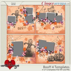 Boo!!! 4 Templates by CarolW Designs