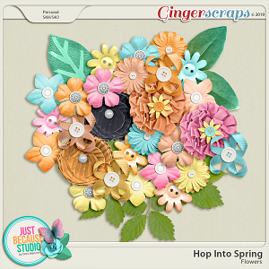 Hop Into Spring Flowers by JB Studio