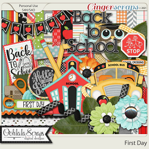 First Day Digital Scrapbook Kit