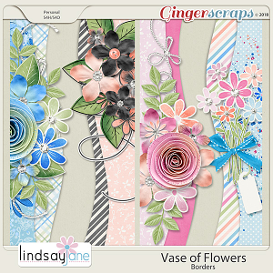 Vase of Flowers Borders by Lindsay Jane
