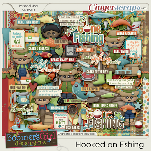 Hooked on Fishing by BoomersGirl Designs