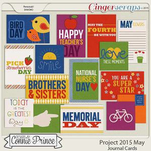 Project 2015 May - Journal Cards