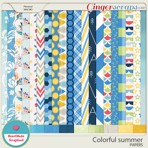 Colorful summer - papers