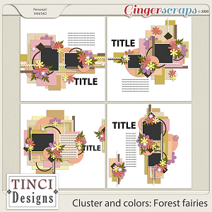 Cluster and colors: Forest fairies