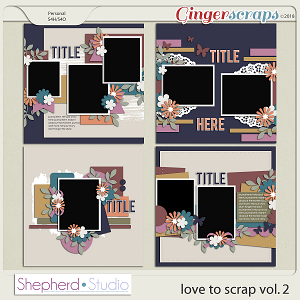 Love to Scrap Volume 2 Templates by Shepherd Studio