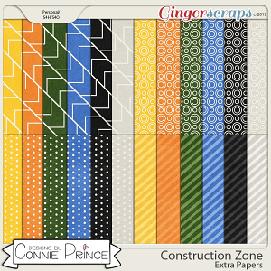 Construction Zone - Extra Papers by Connie Prince