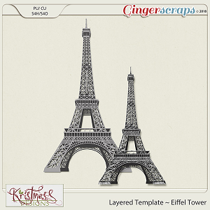CU Eiffel Tower Layered Template