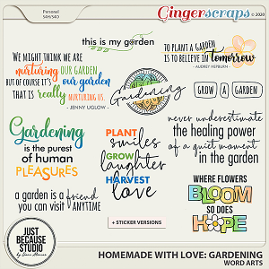 Homemade With Love: Gardening Word Arts by JB Studio