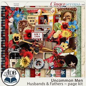 Uncommon Men: Husbands & Fathers Page Kit by ADB Designs
