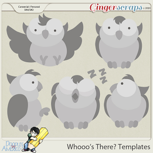 Doodles By Americo: Whooo's There? Templates