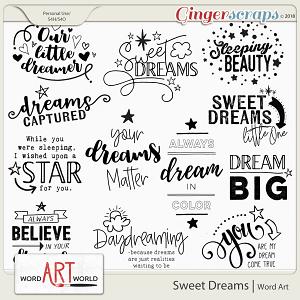 Sweet Dreams Word Art