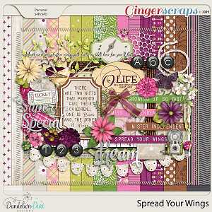 Spread Your Wings Digital Scrapbook Kit by Dandelion Dust Designs
