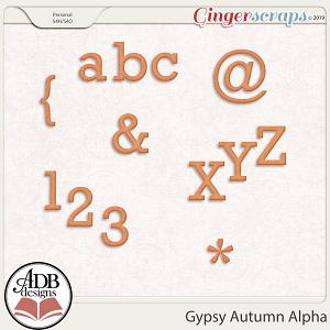 Gypsy Autumn Alpha by ADB Designs