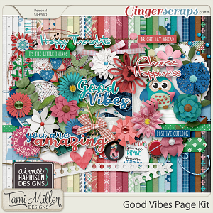 Good Vibes Page Kit by Aimee Harrison and Tami Miller