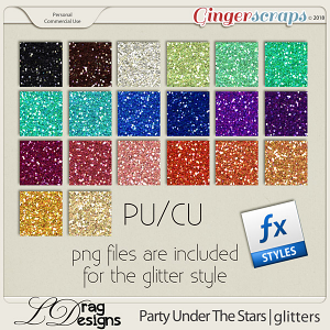 Party Under The Stars: Glitterstyles by LDragDesigns