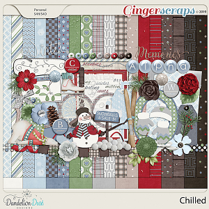 Chilled Digital Scrapbook Kit by Dandelion Dust Designs