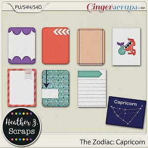 The Zodiac: Capricorn JOURNAL CARDS by Heather Z Scraps