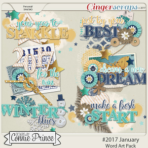 #2017 January - Word Art Pack