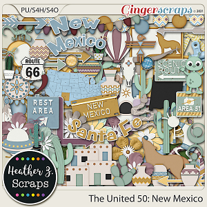 The United 50: New Mexico ELEMENTS by Heather Z Scraps