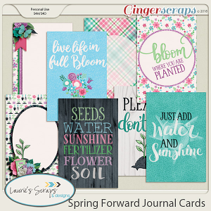 Spring Forward Journal Cards