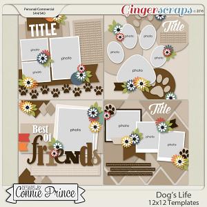 Dog's Life - 12x12 Templates (CU Ok)