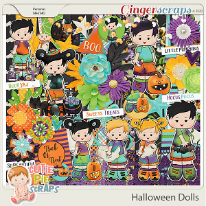 Halloween Dolls-Page Kit