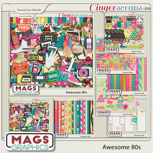 Awesome 80s BUNDLE by MagsGraphics