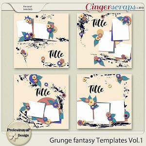 Grunge fantasy Templates Vol.1